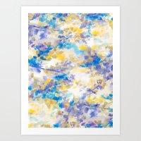 Canopy Blue Art Print