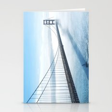 golden gate bridge river Stationery Cards