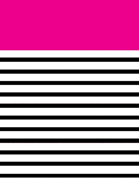 Pinstripe Color Block (Pink) Art Print