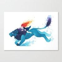 Lion Rider Canvas Print