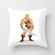 By The Power Of 8-Bit Throw Pillow