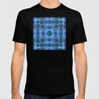 Ocean Kaleidos Mens Fitted Tee Black SMALL