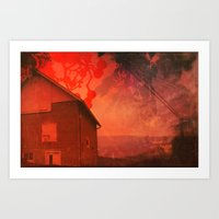 The Barn On Breakers Hil… Art Print