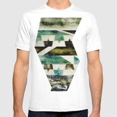 Morocco meets Navajo Mens Fitted Tee SMALL White