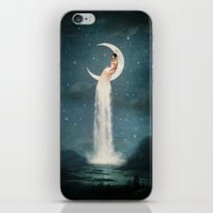 iPhone & iPod Skin featuring Moon River Lady by Paula Belle Flores