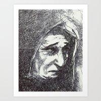yüz izleri Art Print