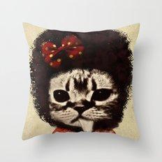 Cat (Pack-a-cat) Throw Pillow