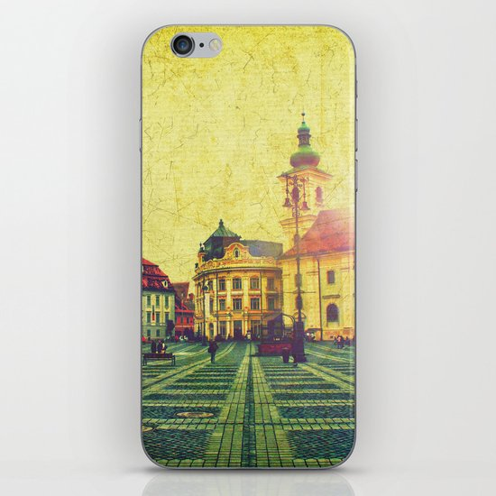 Postcards From A Better Century: Sibiu, Romania iPhone & iPod Skin