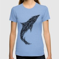 Fluid Womens Fitted Tee Athletic Blue SMALL