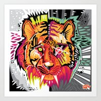 Eye of the Tigah Art Print