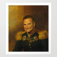 Robin Williams - replaceface Art Print