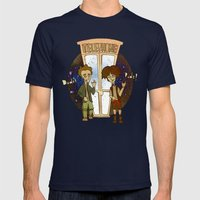 Bill & Ted's Excellent Adventure (1989) Mens Fitted Tee Navy SMALL