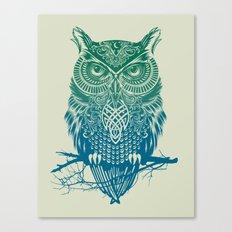 Warrior Owl Canvas Print