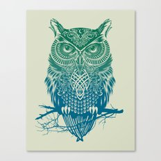 Warrior Owl Canvas Print