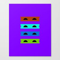 Teenage Minimal Ninja Turtles Canvas Print