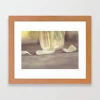 I Will Love You Even After The Last Petal Falls Framed Art Print