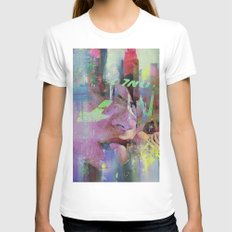 In Nina's Eyes Womens Fitted Tee White SMALL