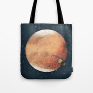 Tote Bag featuring The Red Planet by Tracie Andrews