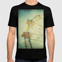 Ferris Wheel Mens Fitted Tee Black SMALL