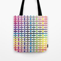 Stripes In Colours Tote Bag