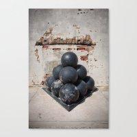 Cannonballs Canvas Print