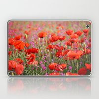 Poppies in Spring Laptop & iPad Skin