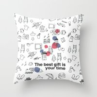 The best gift is you time Throw Pillow