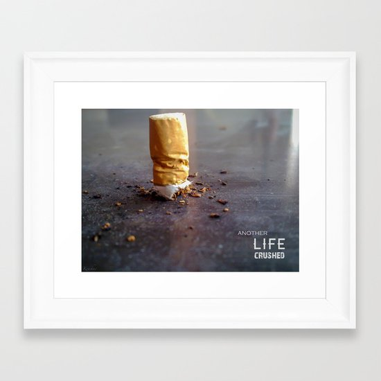 Smoking Kills Framed Art Print