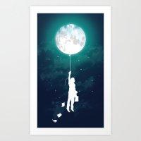 Burn the midnight oil  Art Print