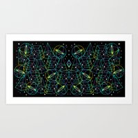 Art Print featuring Hidden Galaxies by Súa Agapé