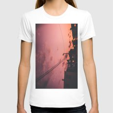 MY TOWN Womens Fitted Tee White SMALL