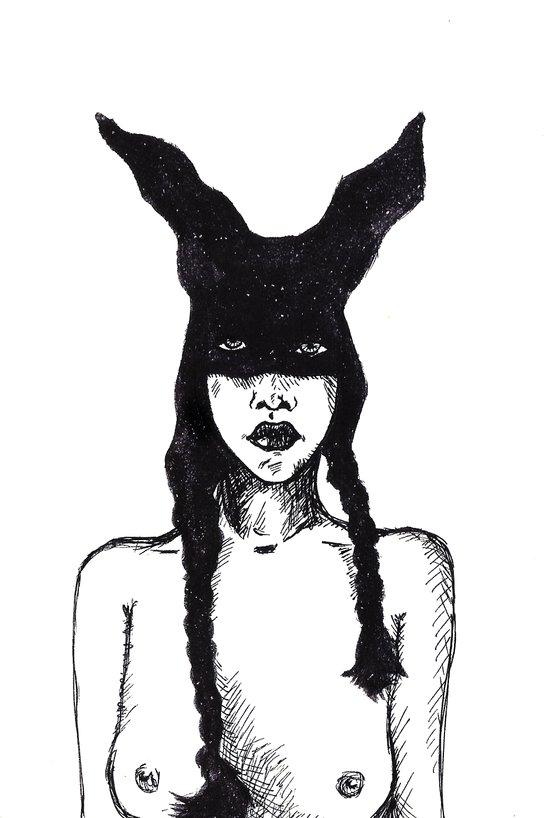 Girl 3 Art Print