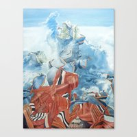 Dancing with time Canvas Print