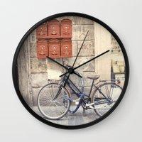 bike love::rome, italy Wall Clock