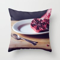 pomegranate, 2 Throw Pillow