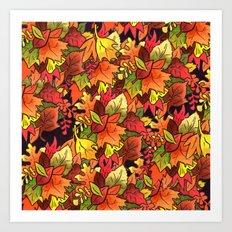 Leaf Pile Art Print