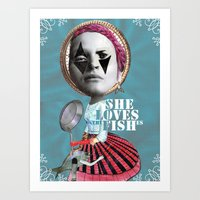 she loves the fishes Art Print