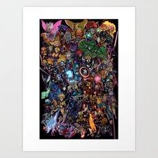 Lil' Marvels Art Print