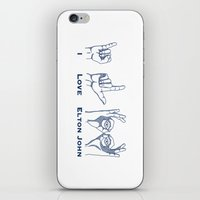 I Love Elton V2 iPhone & iPod Skin