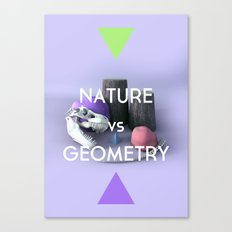 Nature vs Geometry Canvas Print