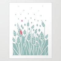 pink corn Art Print