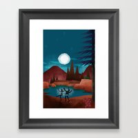 Moondance - Inspired by Wes Anderson's movie Moonrise Kingdom Framed Art Print