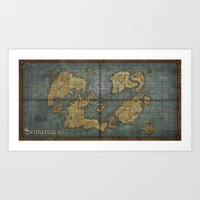 Seimeramus Map Art Print