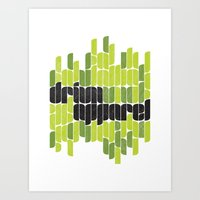 Drivn Apparel, leaves 18x24 Art Print