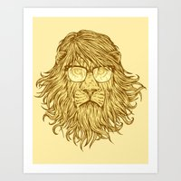 Lions Are Smarter Than I… Art Print