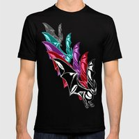 Bat Attack! RMX Mens Fitted Tee Black SMALL