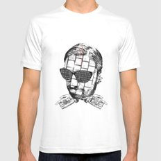 R.K.PRINT Mens Fitted Tee SMALL White