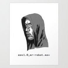 Mr Robot Art Print