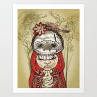 i wear my lucky skull  Art Print