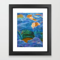 Abstract beautiful rock pools in the late afternoon Framed Art Print